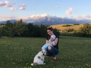 S dieťaťom pod Tatrami