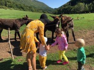 Deti kŕmia oslíky, Muráň