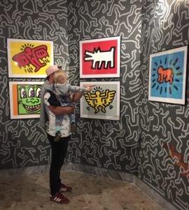 Obrazy dočasnej výstavy - Keith haring