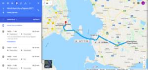 Trasa z Malmö do Kodane