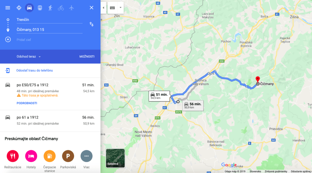 Trasa Trenčín - Čičmany